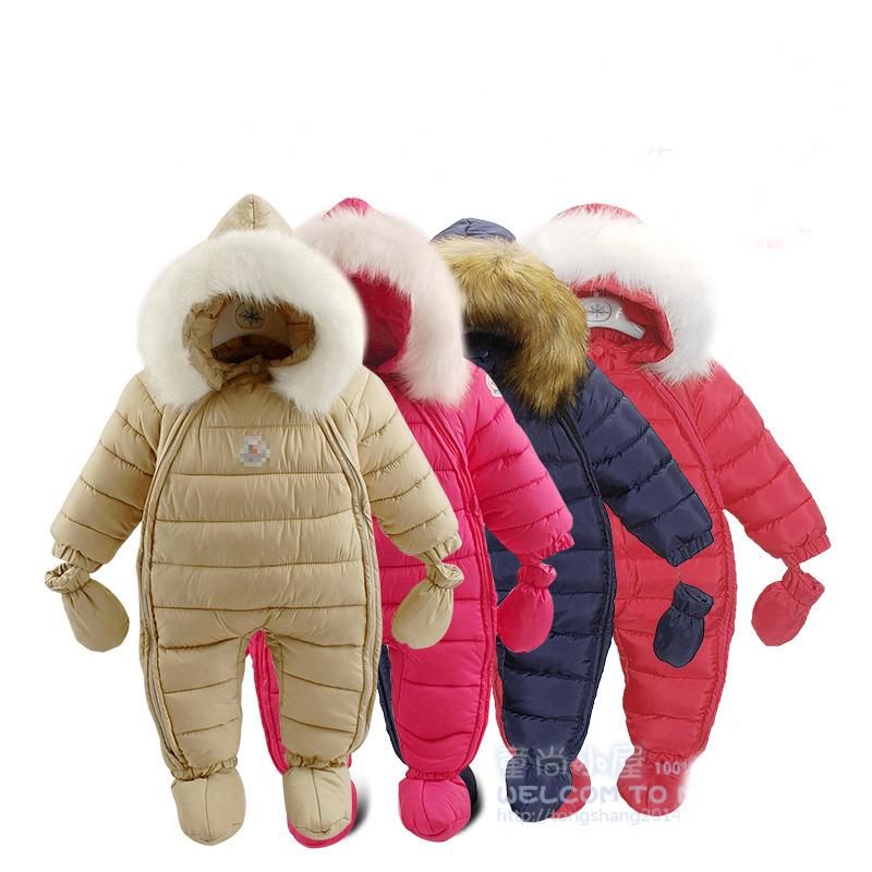 c389070f0 Buy Newest newborn winter baby down rompers baby boys   girls ...