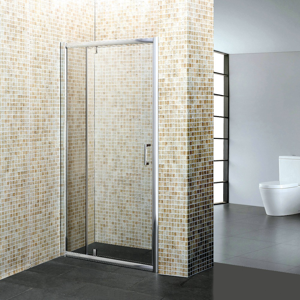 Bathroom shower screen glass povid door with hinge
