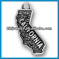 american antique silver jewelry plated California jewelry charm(186636)