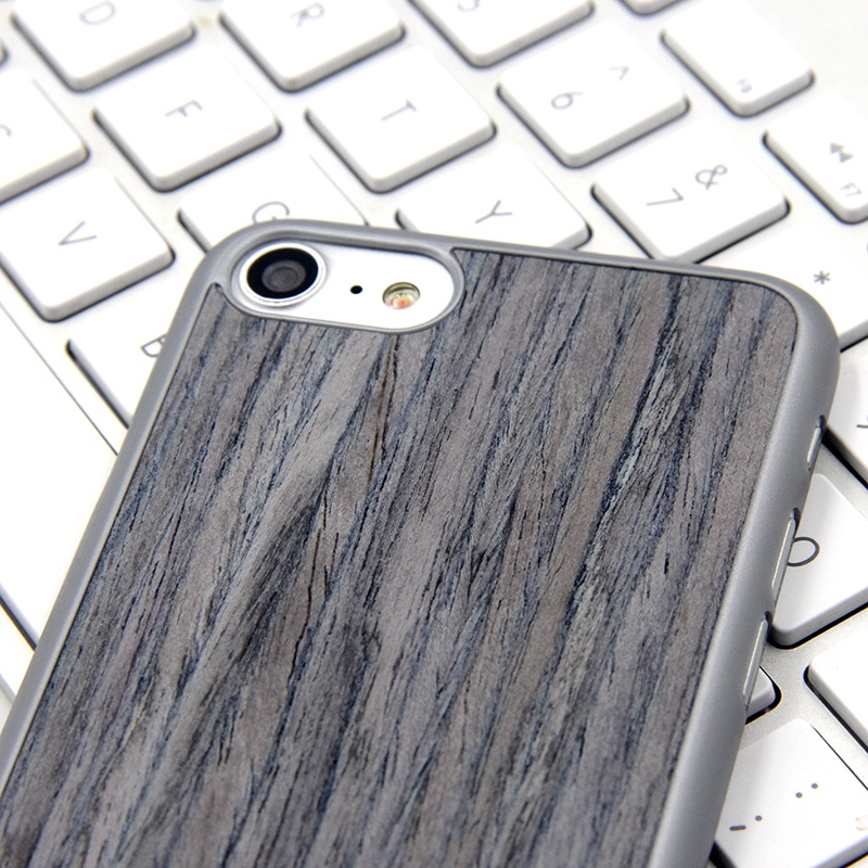 Design special fabric and wooden mobile phone back cover for iphone7