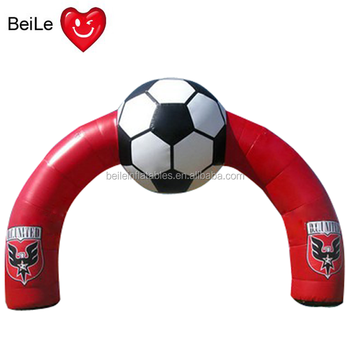 Red Inflatable Football Entrance Arch for special time advertising