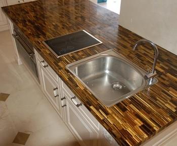 Semi Precious Stone Kitchen Countertop Tiger Eye Worktop