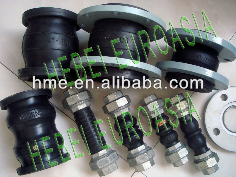Threaded Union Double Sphere Flexible Rubber Joint