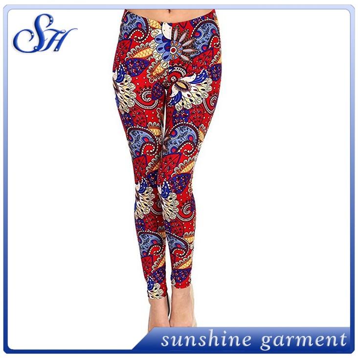 7753b902fcaa69 2018 Best Selling Printed Brushed Leggings with new design women leggings