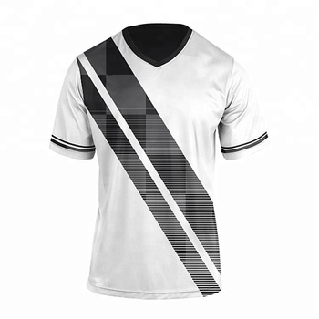 5cb8e285031a1 Breathable black and white soccer jerseys football shirt custom soccer  uniform