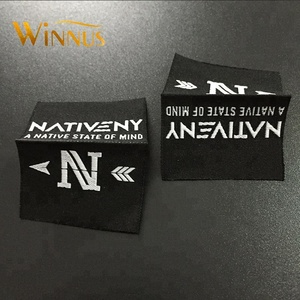 custom brand logo cloth fabric embroidered woven scarf label