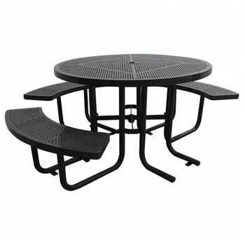 Surprising Round Steel Picnic Table With Benches With Access For Disabled People Buy Round Picnic Table Steel Picnic Table Picnic Table With Benches Product On Inzonedesignstudio Interior Chair Design Inzonedesignstudiocom