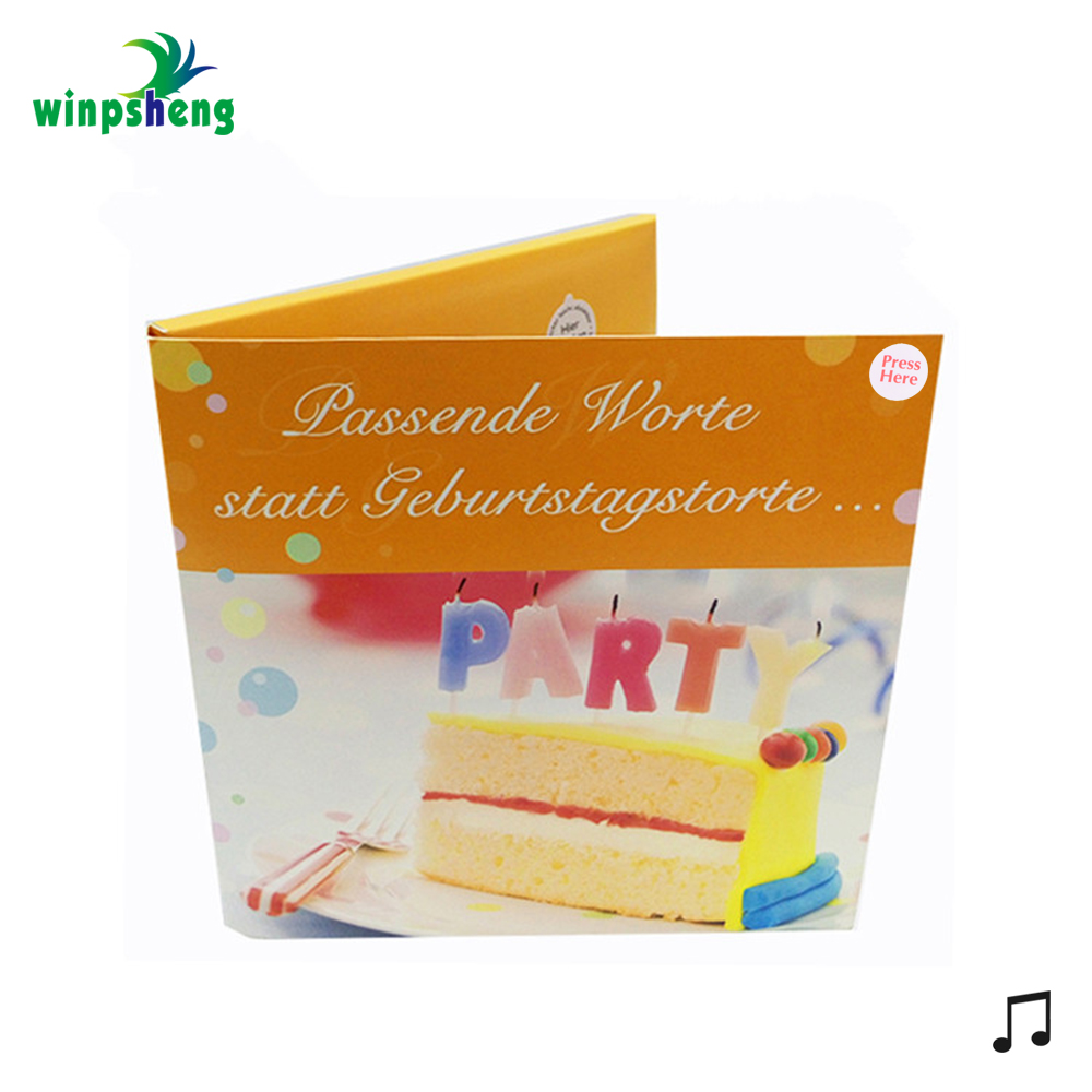Wholesale Best Happy Birthday Wishes Music Greeting Card