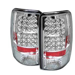 Carpart4u Chevy Suburban/Tahoe 1500/2500 / GMC Yukon/Yukon XL / GMC Yukon Denali/Denali XL ( Lift Gate Style Only ) LED Chrome Tail Lights & LED Day Time Running Light Package