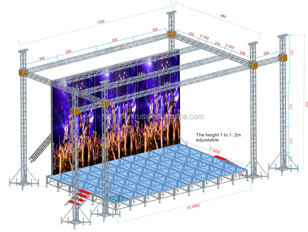 2016 high quality aluminum truss stage truss lighting for Buy truss