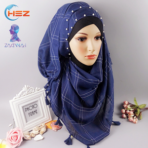 Zakiyyah FX060 Lace Muslim Designer Hijab with Beads Wedding Dress Baju Kurung Fashion 2017