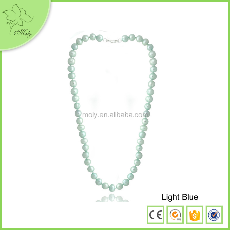 6-9mm Fashion Charming Multicolor Freshwater Pearl Necklace, Pearl Necklace Jewelry