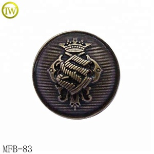 Zinc alloy shank button for lady coat metal brand logo button