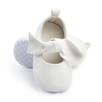 New beautiful white bow baby girl shoes 2019