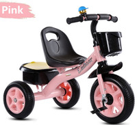 Factory wholesale baby tricycle new models with push bar, children ride on toys kids trike