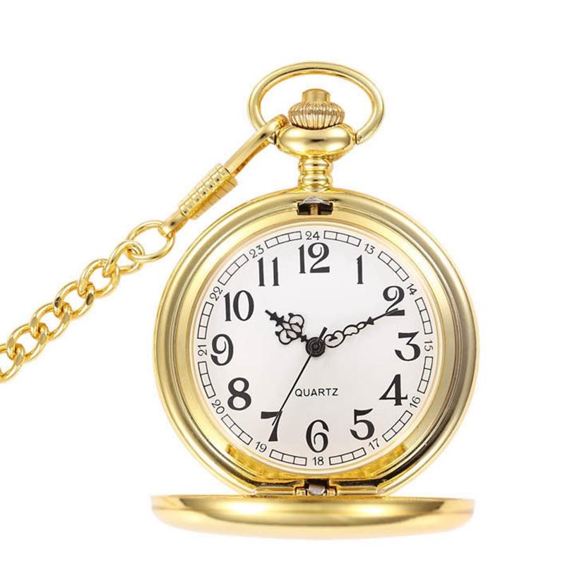 81fda0d682fa Retro negro moda plata Lisa Steampunk cuarzo reloj de bolsillo colgante de  cadena larga para hombres