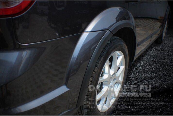 10pcs car tires wheel eyebrow arch fender cover trims for dodge journey freemont 2009 2014 in. Black Bedroom Furniture Sets. Home Design Ideas