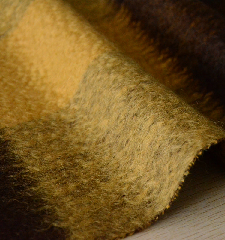 single side brushed mohair plaid wool fabrics
