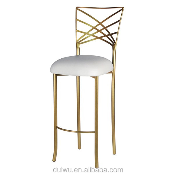 Factory high quality hotel wedding gold metal dinning chair for sale