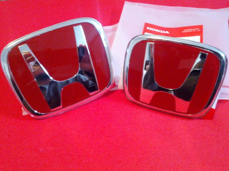 2012-2014 Honda Crv Red H Jdm Front/rear Emblem 003/e01