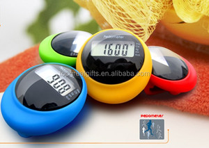 Solar battery mini portable multifunctional pedometer with belt clip