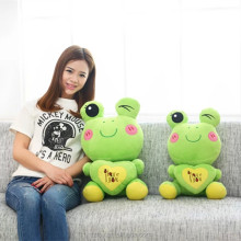 Hold the heart frog doll, plush toys, pillows, birthday gift.