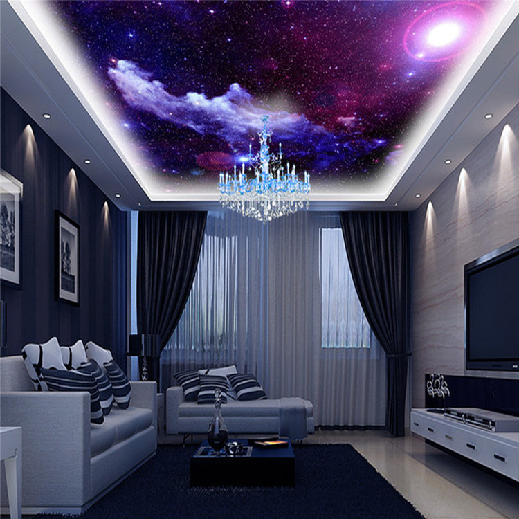 purple galaxy wallpaper mural photo giant wall decor poster charming galaxies children living. Black Bedroom Furniture Sets. Home Design Ideas