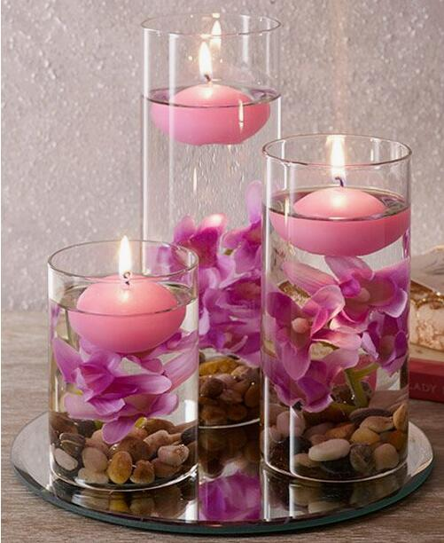 High Quality Hand Made Colored Wedding Use Floating Candles On Sale