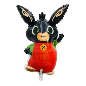 New design Cartoon bing bunny sula flop Charlie pando bing foil balloon Black rabbit balloon for party decoration kids toys