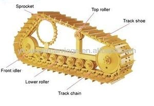 PC100 Carrier Roller Assy for Excavator Parts