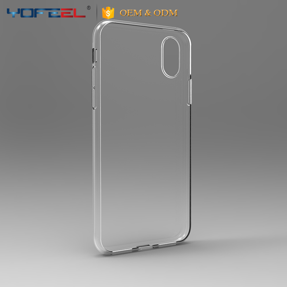 For iphone x case tpu,latest 100% fit clear soft tpu case for iphone x