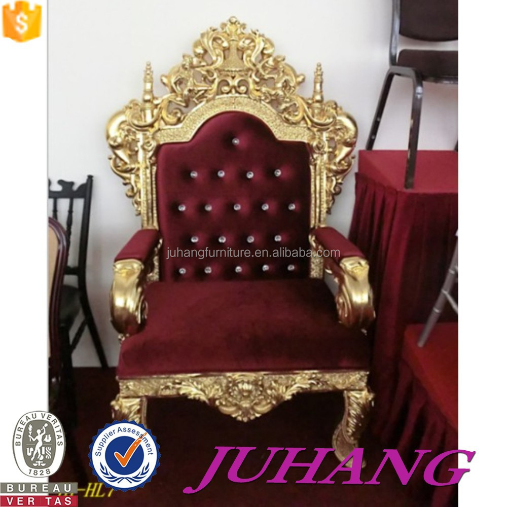 Western Royal Furniture High Back King Throne Chairs