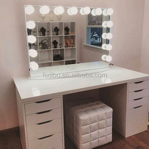 Black White Color Hollywood Vanity Mirror with Lights from China