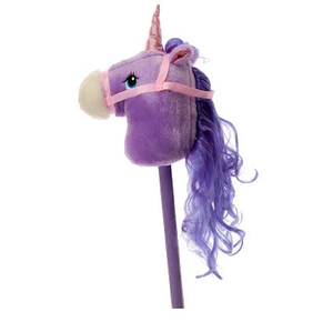 toys us unicorn stick horse riding stick with sound stuffed plush unicorn stick