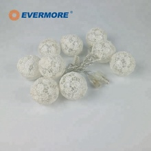 EVERMORE LED cotton cool white christmas yarn ball string lights