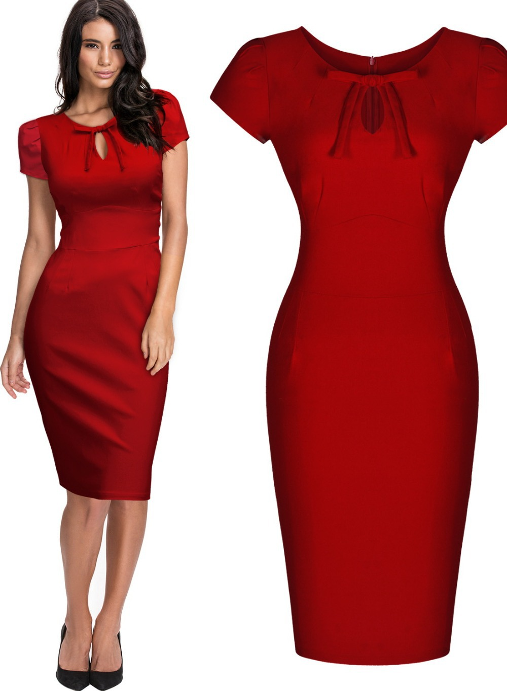 Red Wiggle Dress Cocktail Dresses 2016