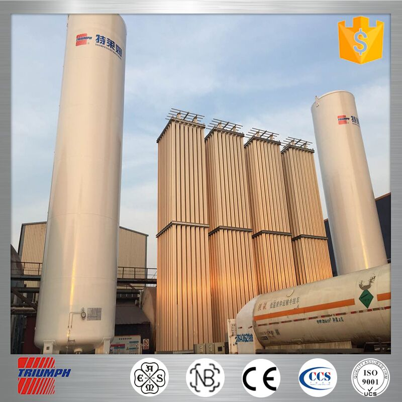 ASME LCO2 LNG Vertical or Horizontal Cryogenic Tank vaporizer