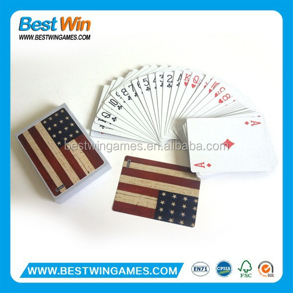Ameica flag paper playing card & poker