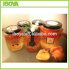 45ml beautiful hexagon glass jar for jelly, candle making