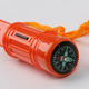 5 in 1 survival whistle outdoor multi-functional emergency whistle compass whistle