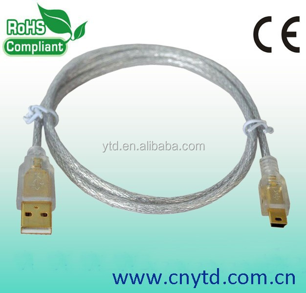 Brand new usb to mini usb conection cable for mobile phone