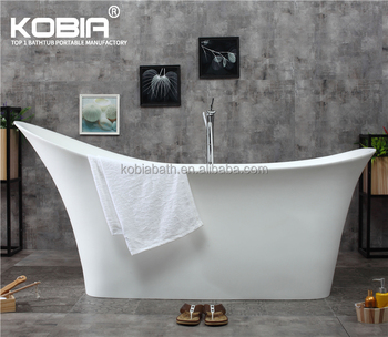 K15 Solid Surface Resin 69 All In One Oval Freestanding Tub