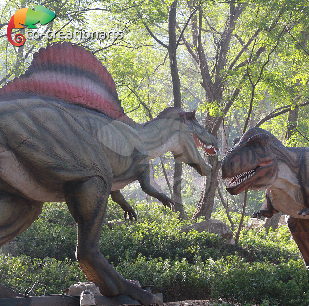 Life size silicon dinosaur model for dinasour park
