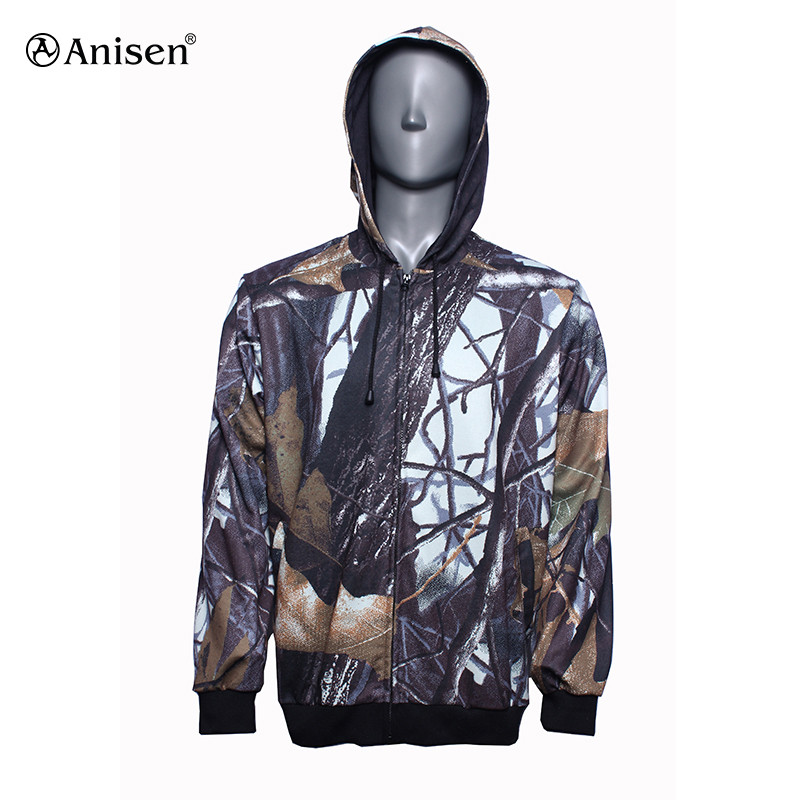 New design woodland men jacket hunting clothing camo hoodie