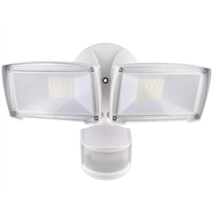 New double head led flood light 240 degree outdoor led security light with motion sensor