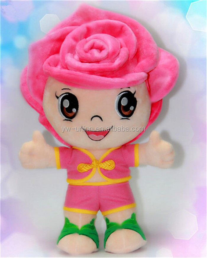 mascot dolls soft toy delicate furry smiling cloth stuffed mascot dolls wholesale