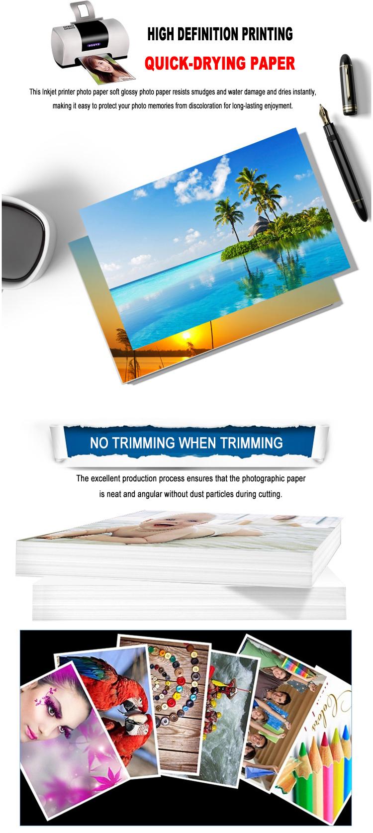 300g mat kaplı kart kağıdı / 108g mürekkep püskürtmeli kağıt / parlak fotoğraf kağıdı