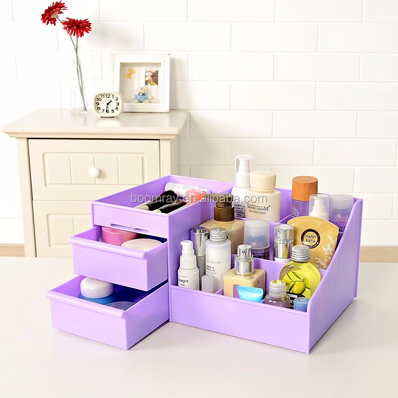 Wholesale Home storage organization Colorful Drawer combination display cosmetic management box organizer
