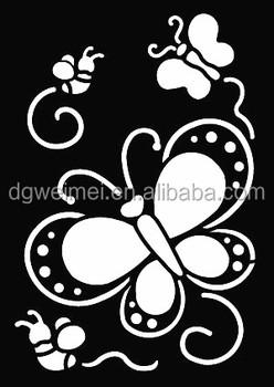 small glitter tattoo stencil woman female kids cute drawing templatesanimal flower letter airbrush henna - Kids Painting Templates