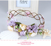 Wholesale china supplier girl hair accessory fabric flower head wreath